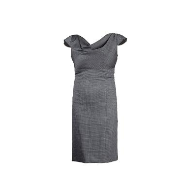 cowl neck midi dress grey